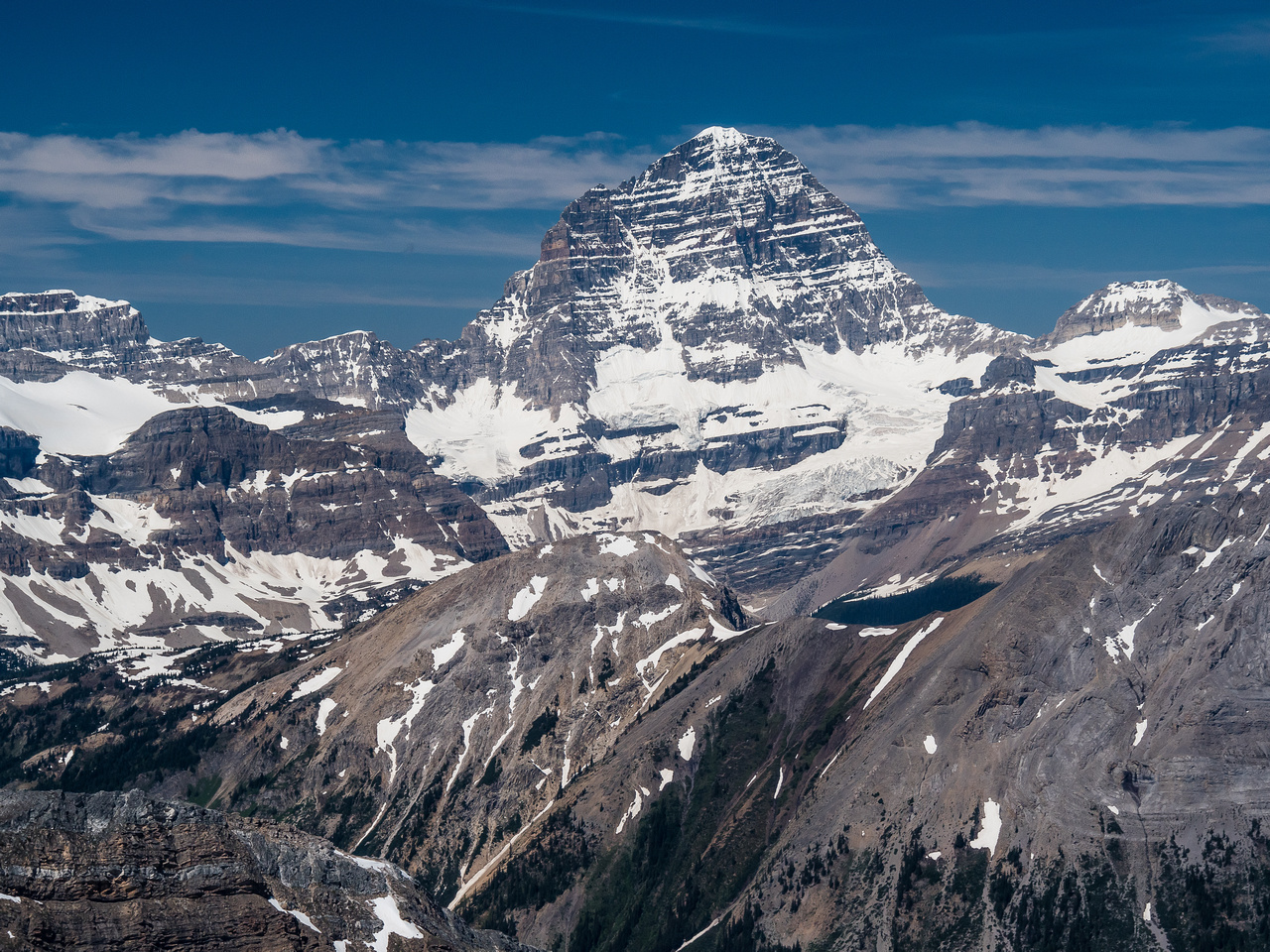 I'm proud of standing on top of Assiniboine - one of my all time favorite days in the mountains.