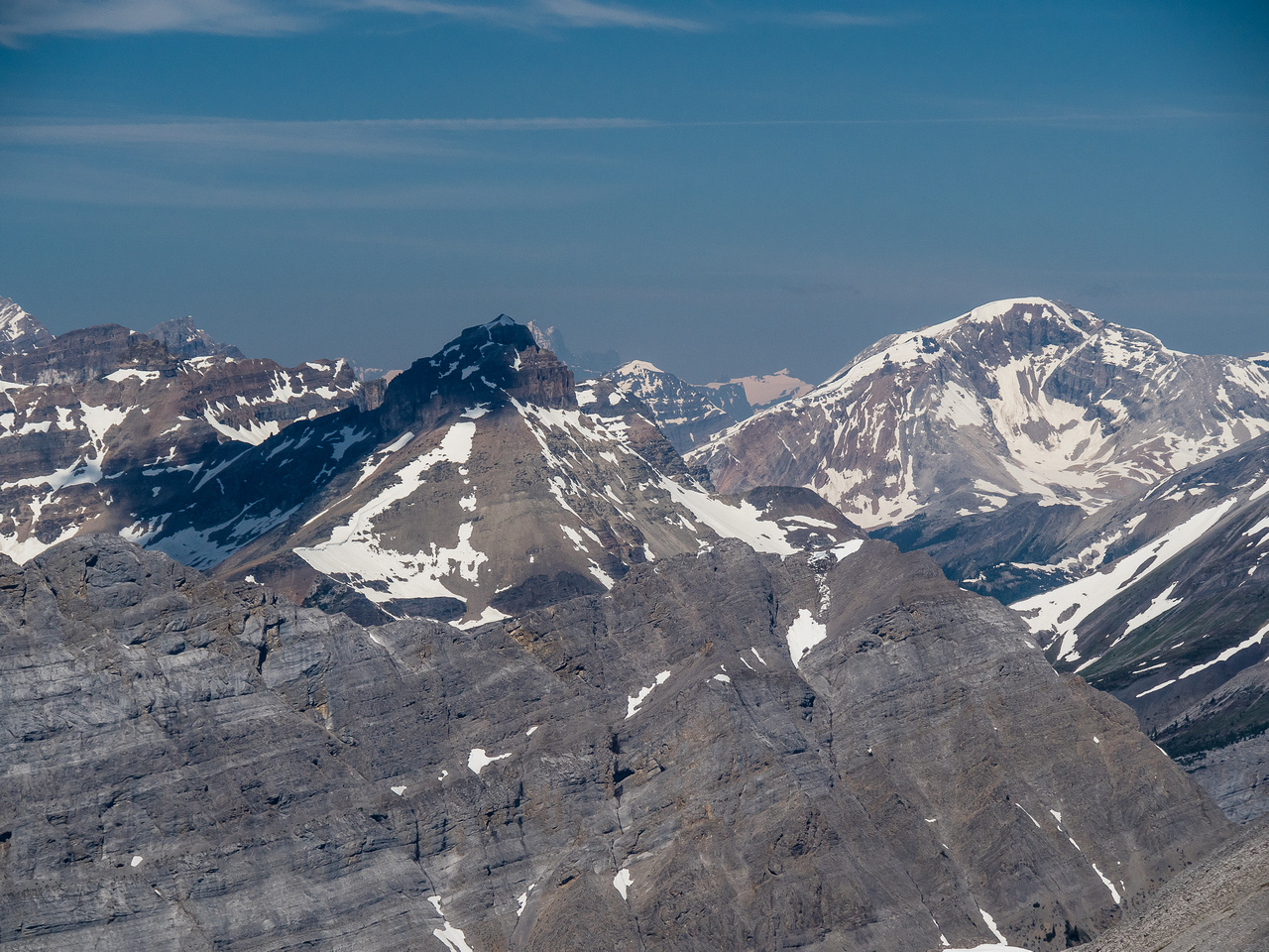 The Towers at left with Nestor Peak rising to the right in the background.
