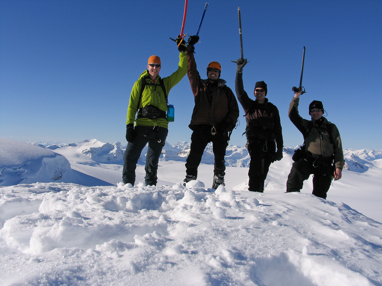 Vern, Andrew, JW and Raf on the summit of Mount Olive.