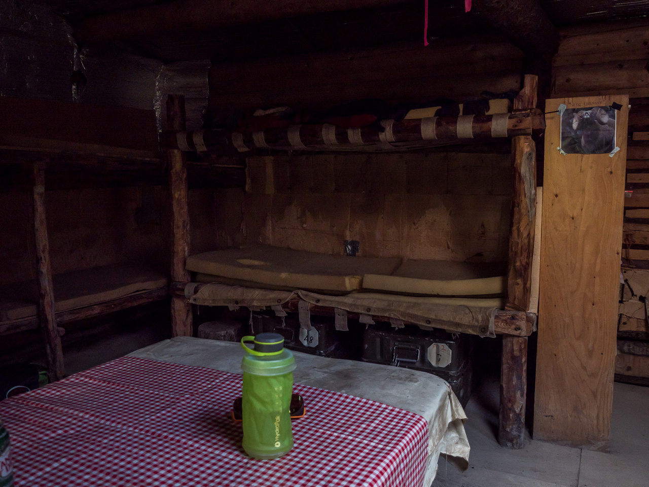 The cabin is cozy enough, but very rustic compared to many backcountry cabins you might be used to.