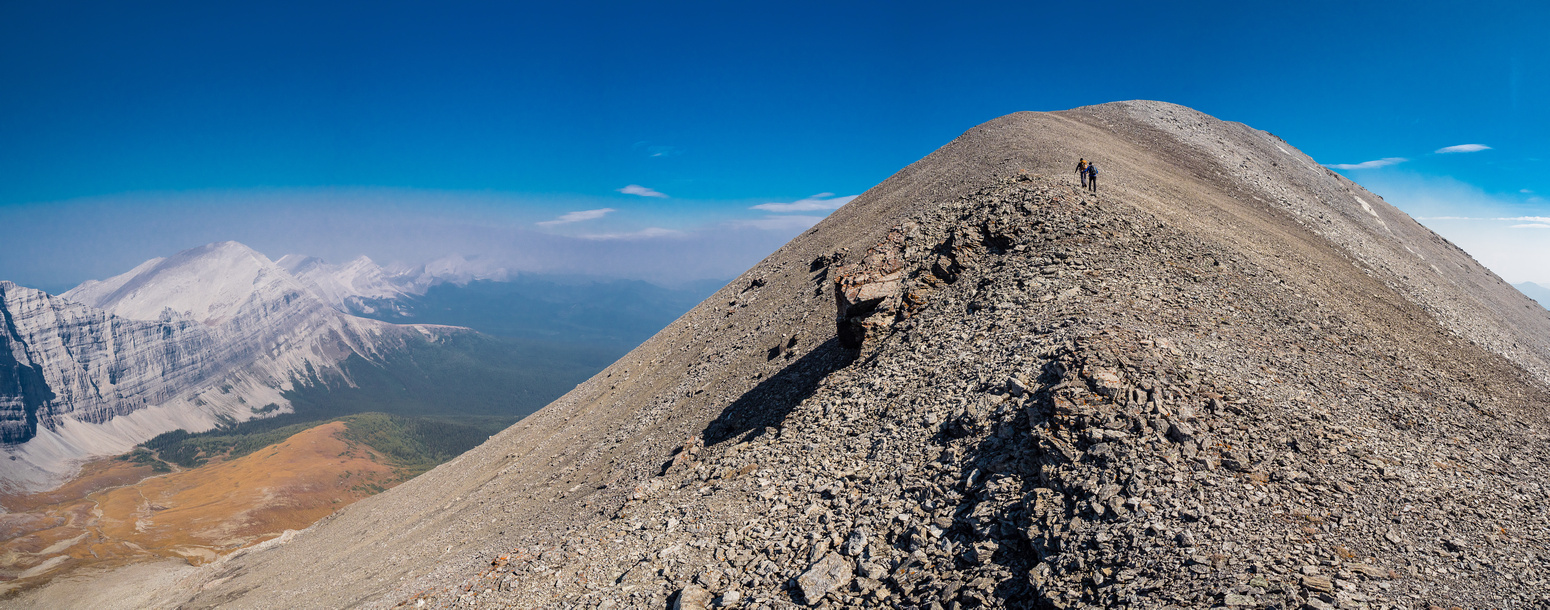 Hoping to beat the worst of the smoke to the summit but I'm afraid it's a losing battle at this point.