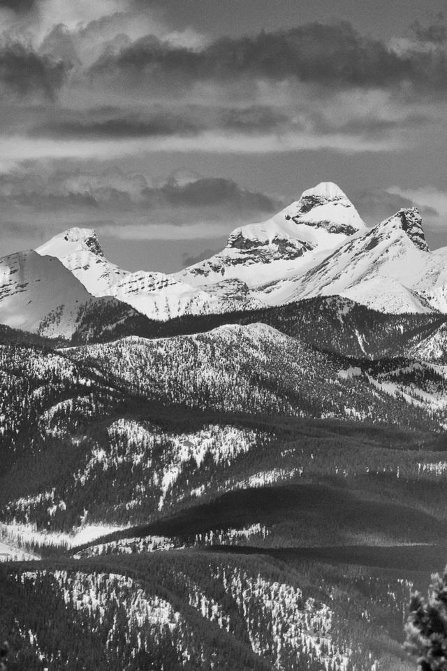 Mount Washburn is the southernmost glaciated peak in the Canadian Rockies.