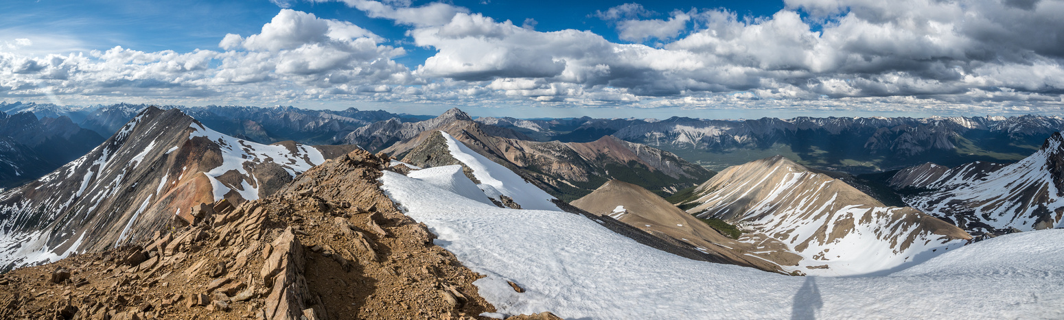 Our entire traverse loop is visible from the summit of Two O'Clock Peak.