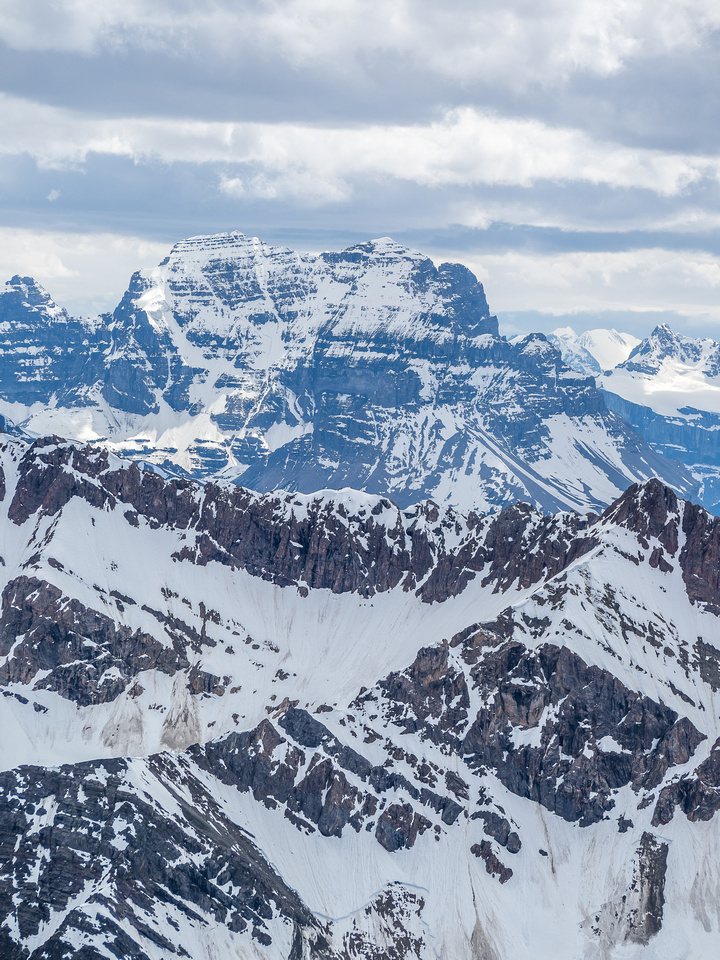 Mount Murchison's twin summits with the left one being the 11,000er.