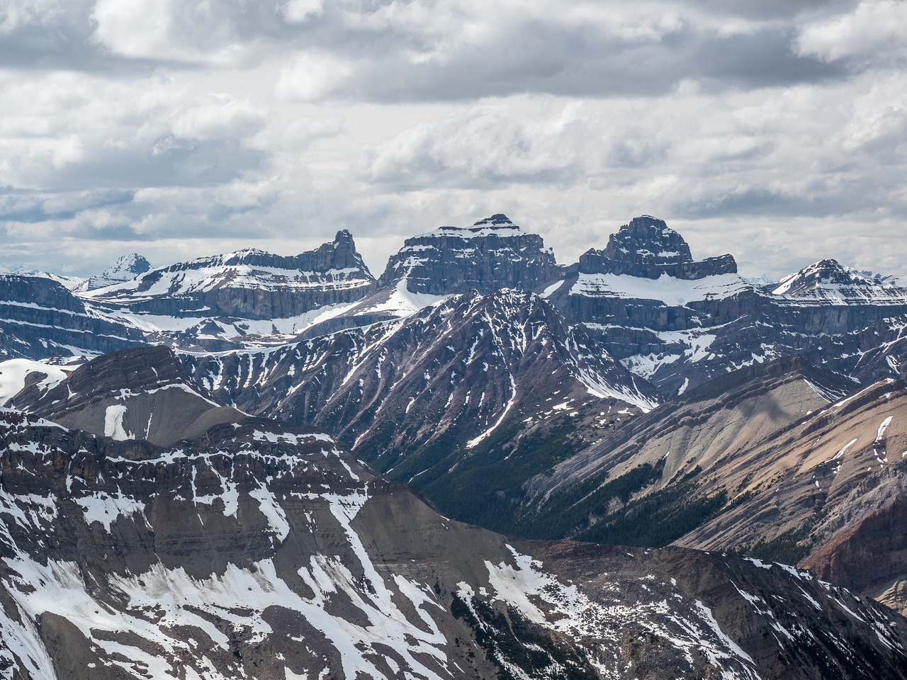 White Goat Peaks (L to R), Troll, Dasent and Gruff.
