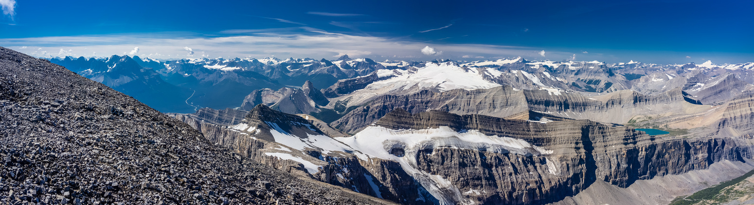 Gorgeous views to the Columbia Icefields.