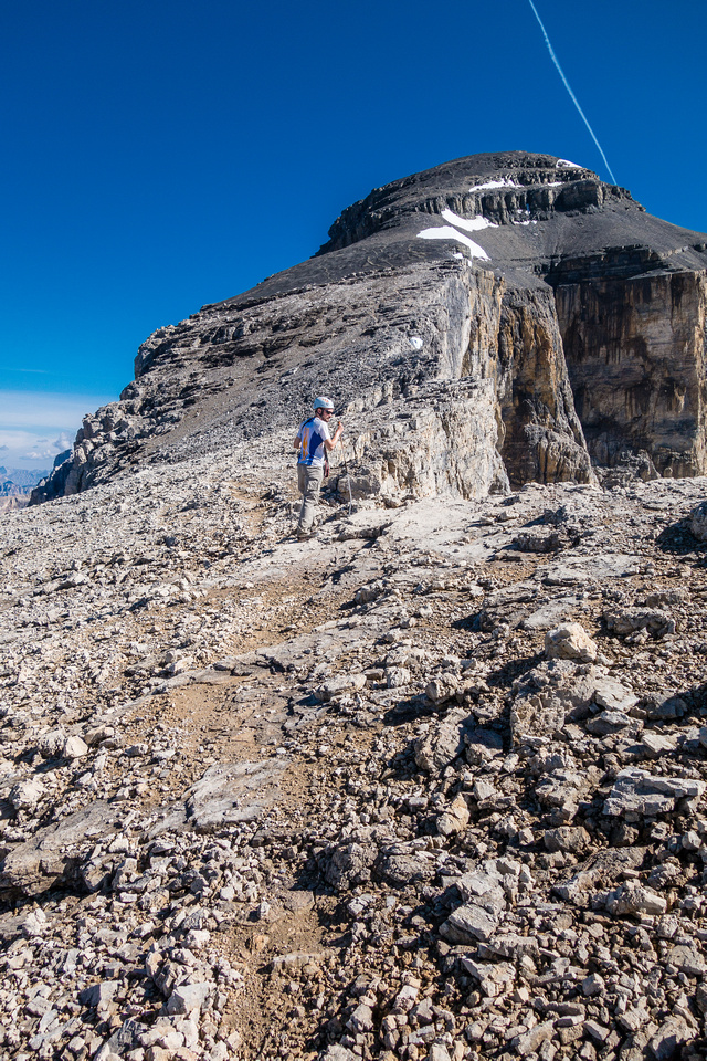 After the excitement of the notches, it's a very normal Rockies scree bash to the summit!