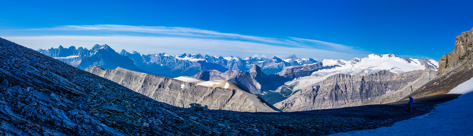 A slightly more zoomed pano from the Owen col with Ben this time.