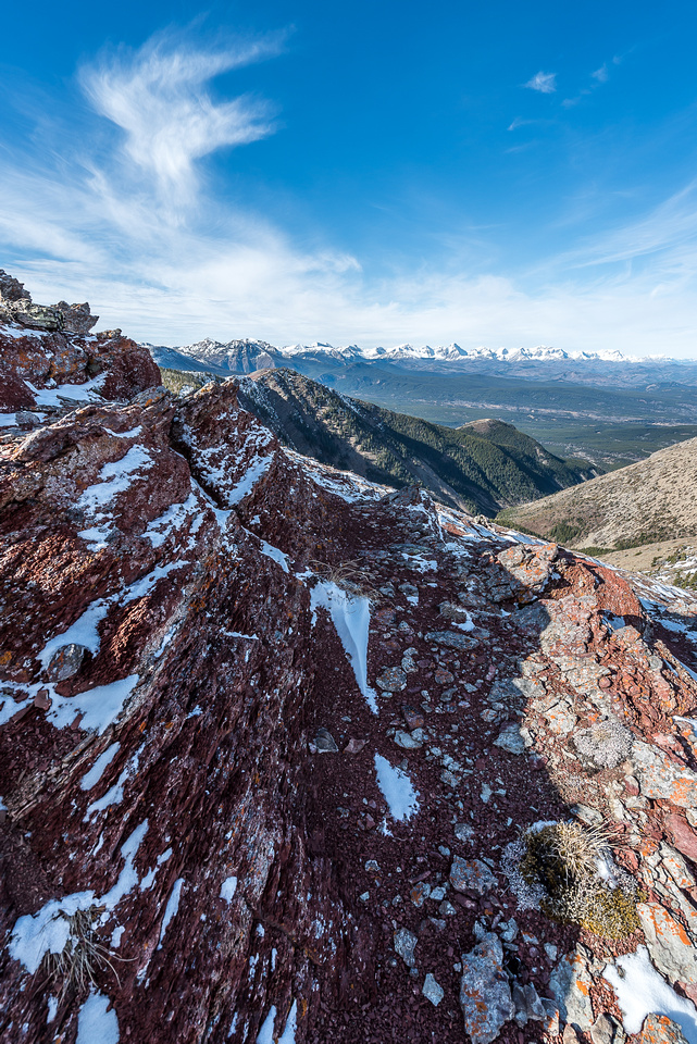 More incredible rock color and scenery from the ridge.