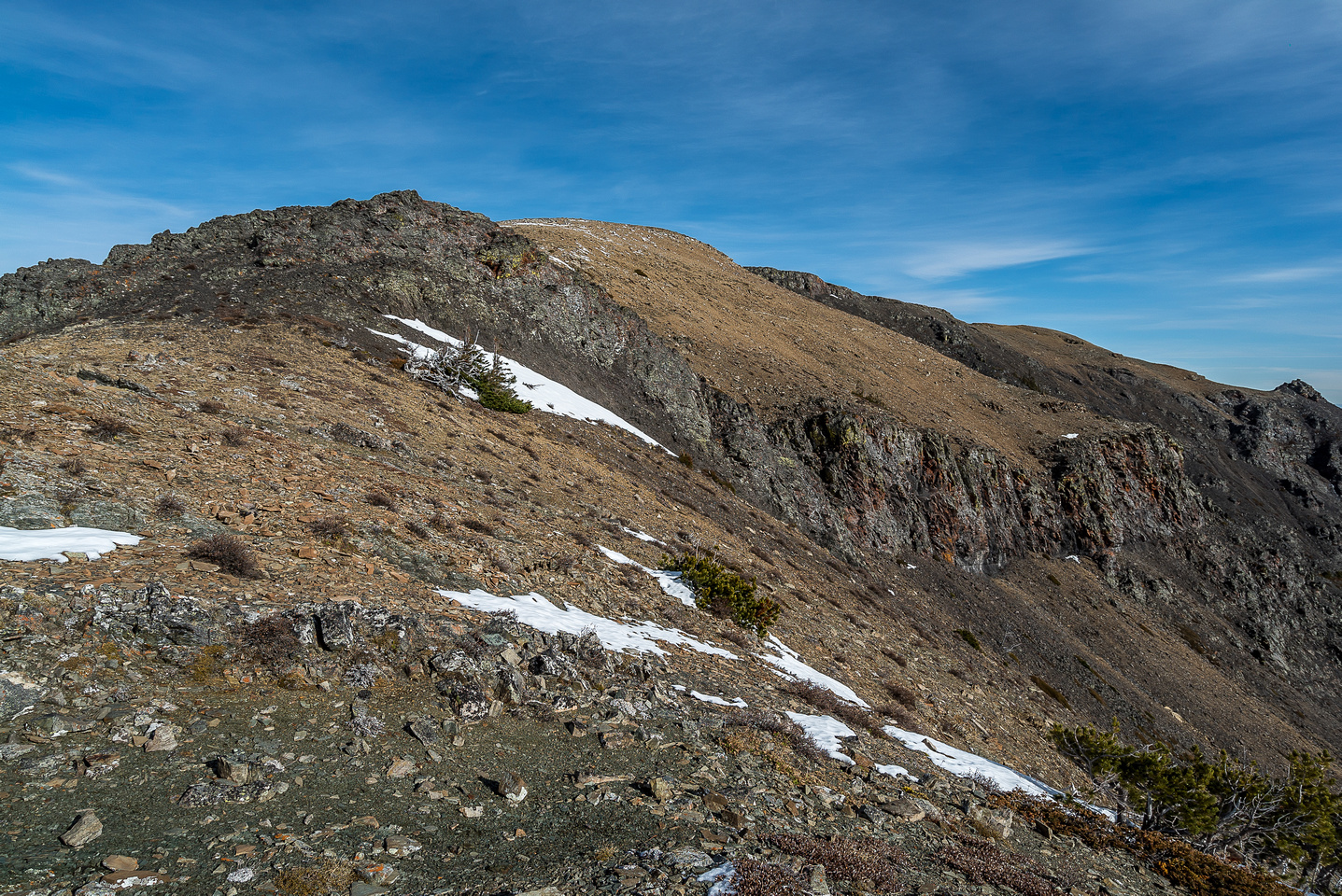 Looking back up the ridge towards Table Top.