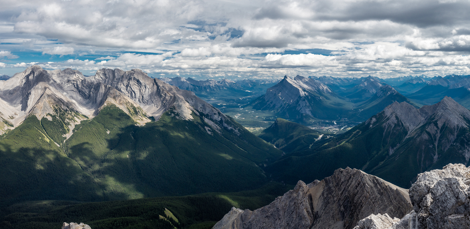 From L to R, Cascade, Stoney Squaw, Rundle and Norquay.