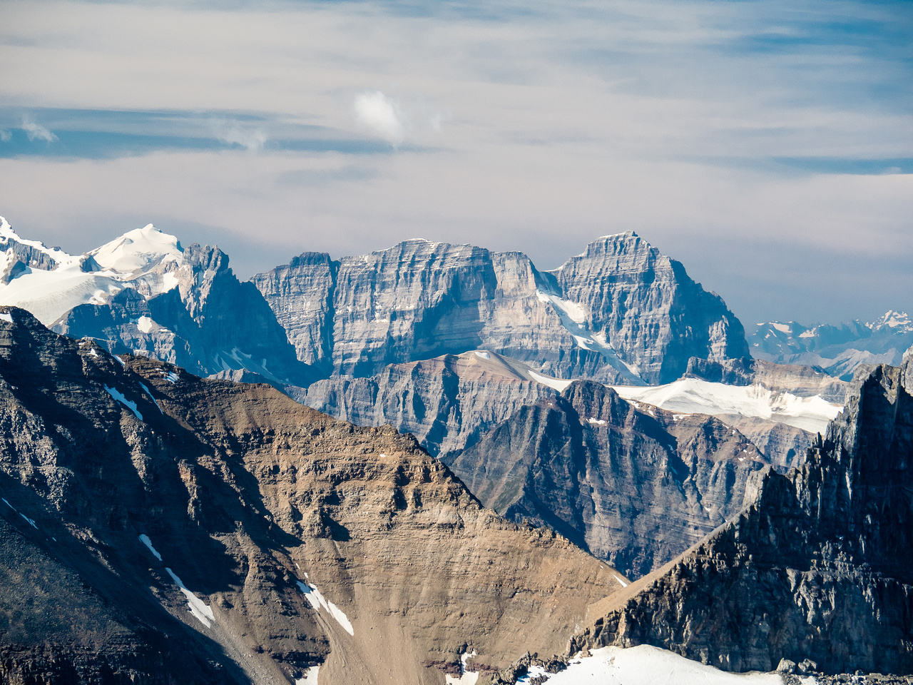 Vaux now at left and Mount Stephen just right of center.