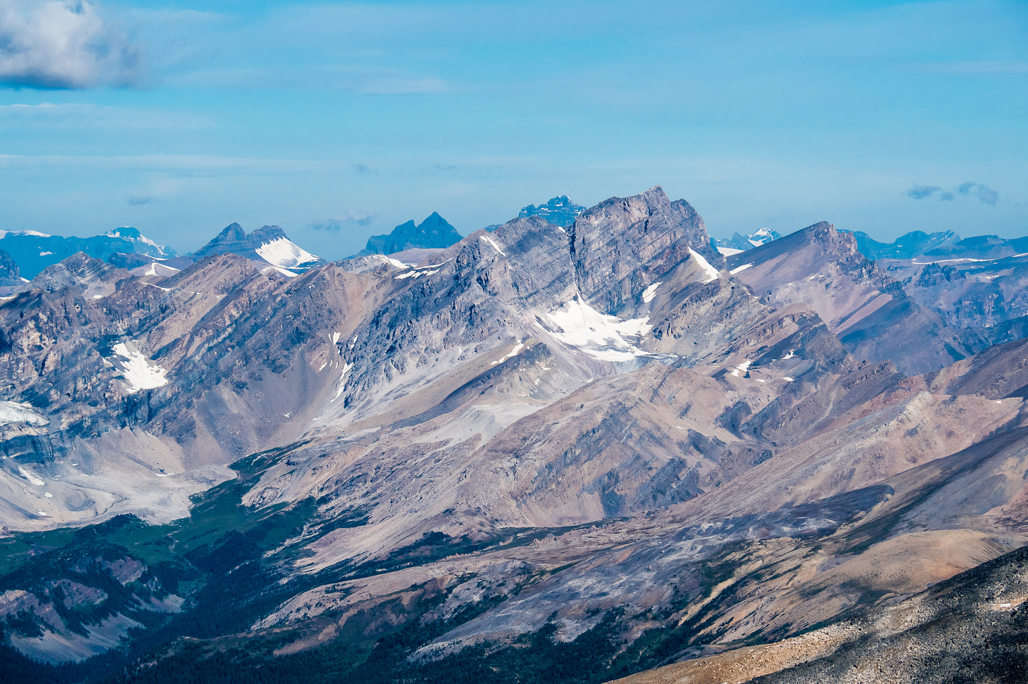 Quill Peak rises over the Siffleur Wilderness Area.