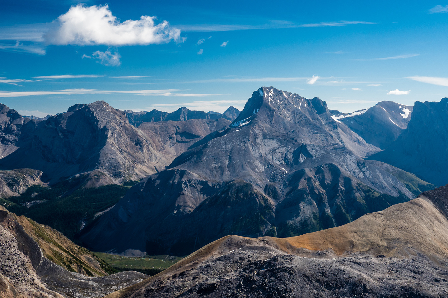 """Cataract Peak is a near-11000er. To it's left is the creatively named, """"Little Cataract"""" Peak."""