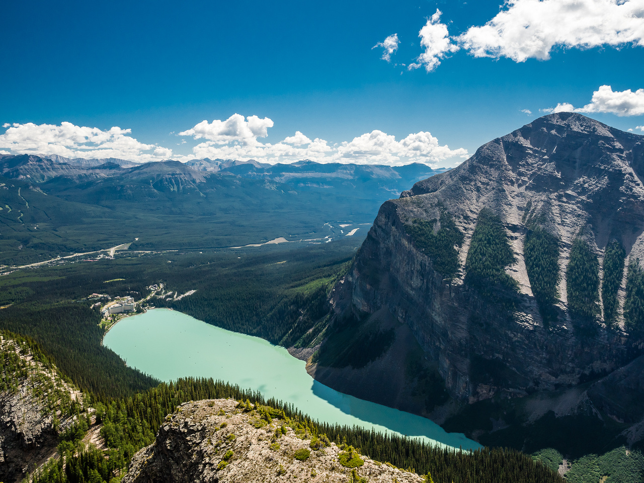 Lake Louise and Fairview.
