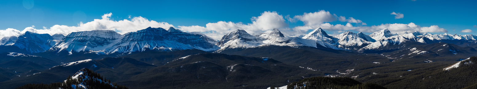 Great views over the spine of the Rockies.
