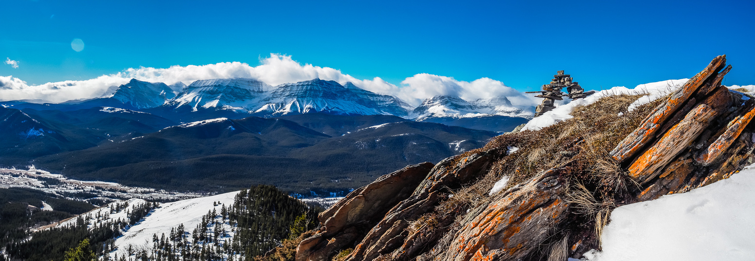 Another great view of the second summit with divide peaks in the bg.