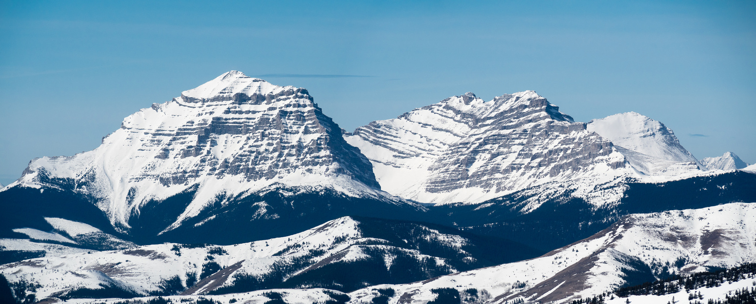 Funnel Peak, Gould Dome and Mount Erris (R to L) are just south of Tornado Mountain.