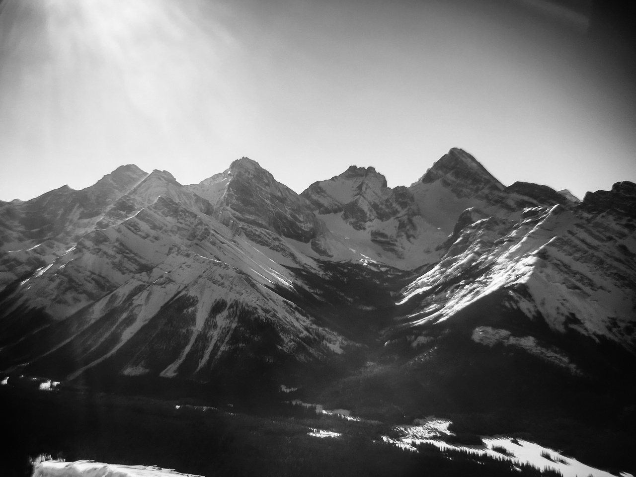 The giants of the Haig Icefield include Sir Douglas, Robertson, French and Smith Dorrien (R to L).