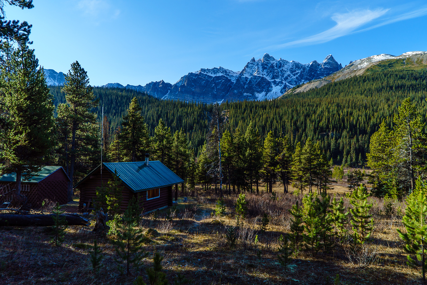 """I could call this """"home""""... The warden cabin along the trail."""