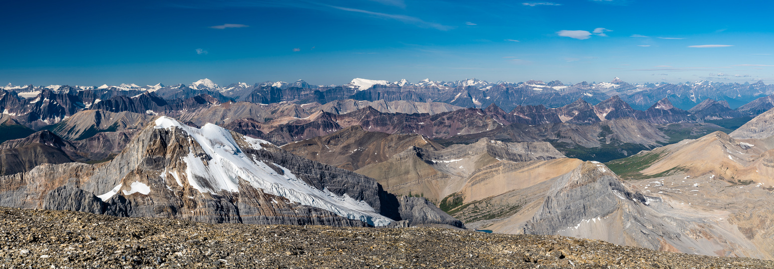 The snowy summit in the distance here is Catacombs Mountain which I was the 2nd ascent party to climb.