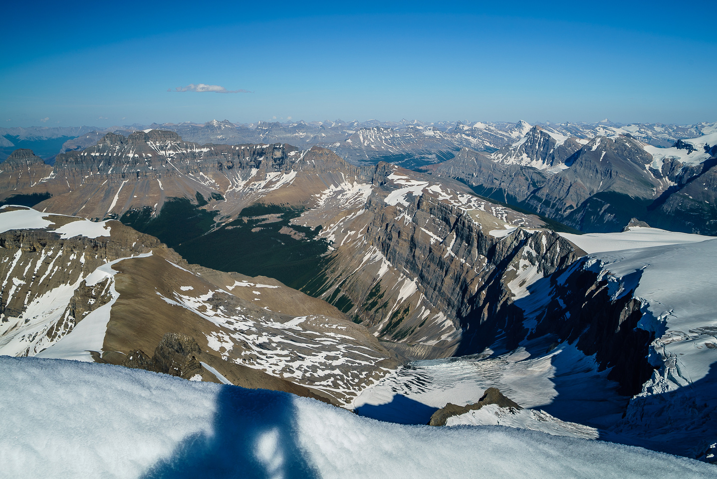 Looking west towards Erasmus, Sullivan and Arctomys with the Glacier Lake valley out of sight at right.