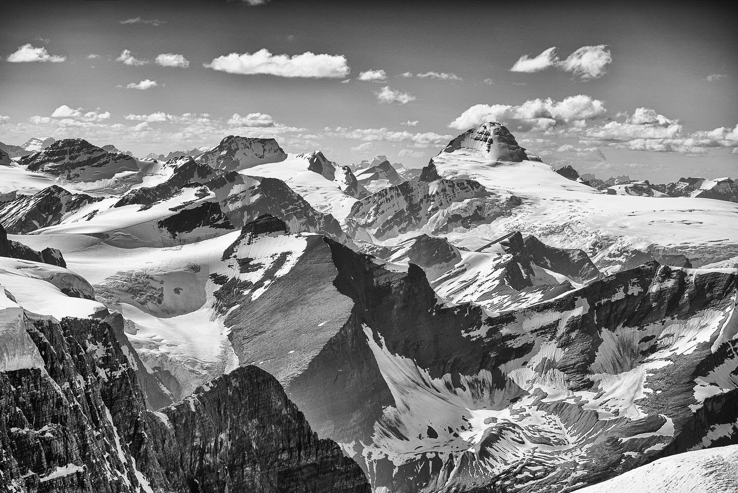 Mount King Edward and Mount Columbia - two of the most western 11,000ers on the Columbia Icefields.