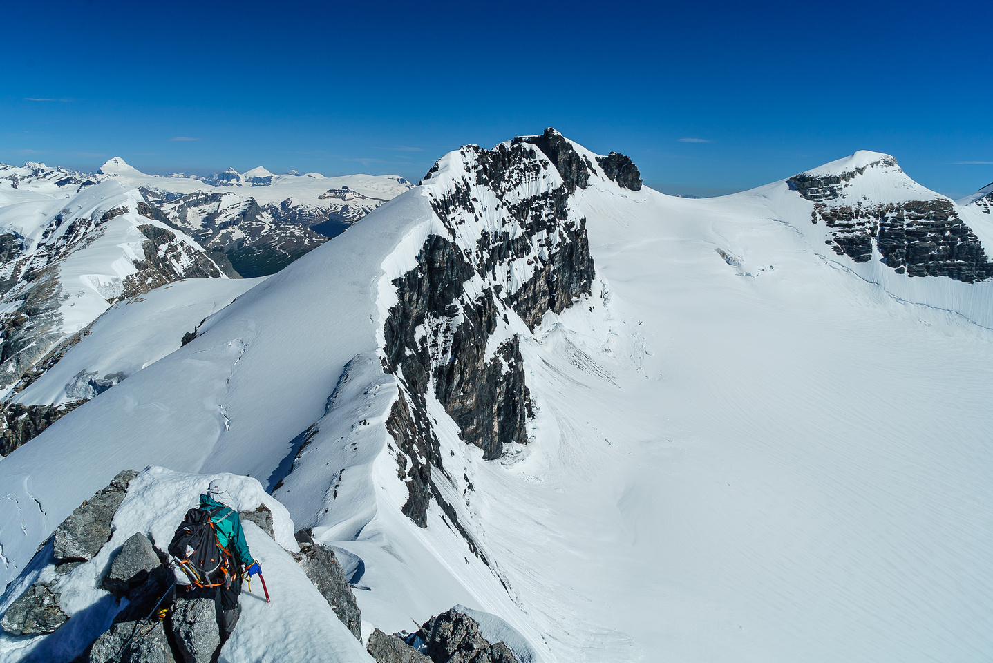This is as far as we got on our traverse to Walter Peak.