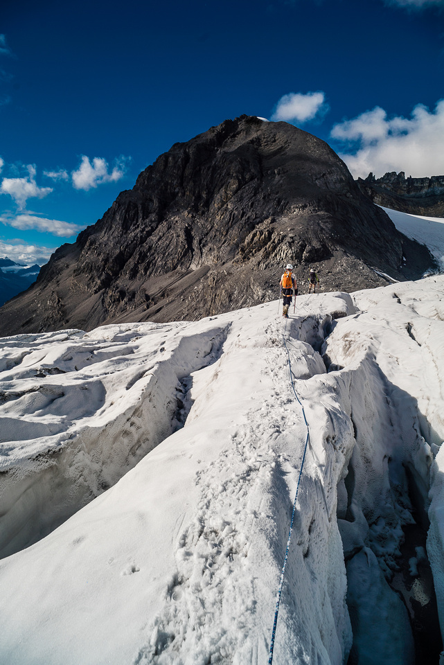 Descending the West Alexandra Glacier.