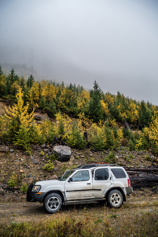 My xTerra on the Rice Brook spur road.