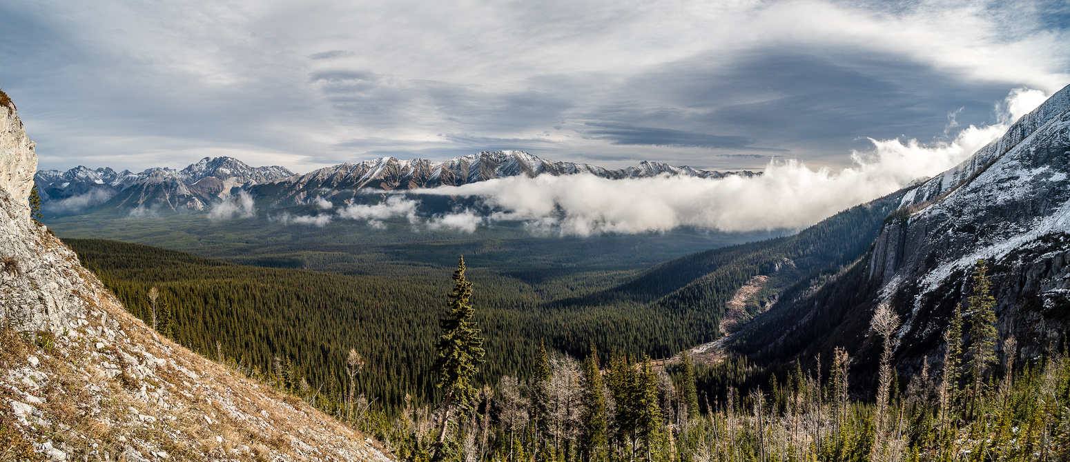 The clouds were pouring over Elk Pass and then drying out when they hit the dry Alberta air.