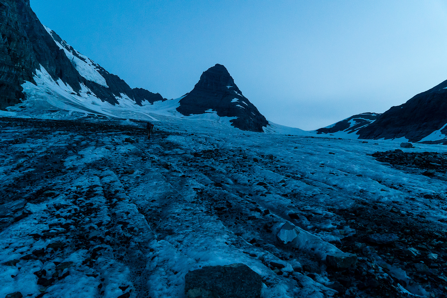 Hiking up the lower glacier towards Prince Albert.
