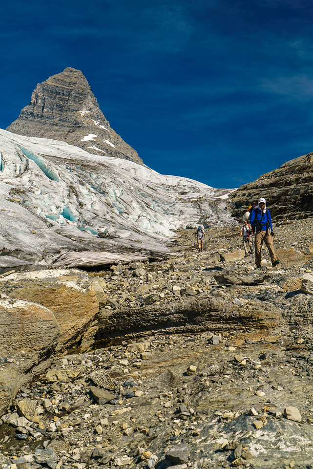 Exiting the King George Glacier.