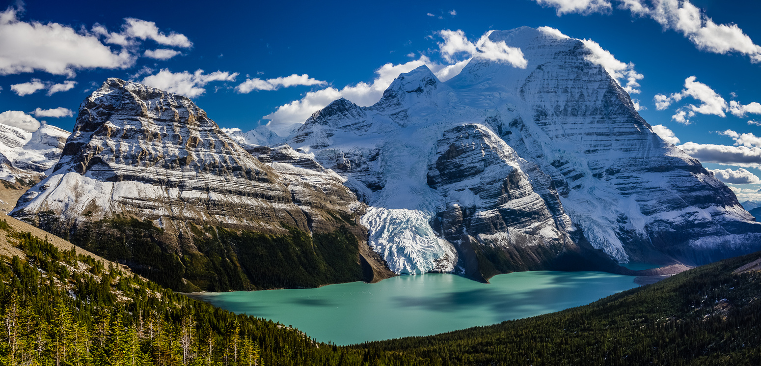Berg Lake and Mount Robson.