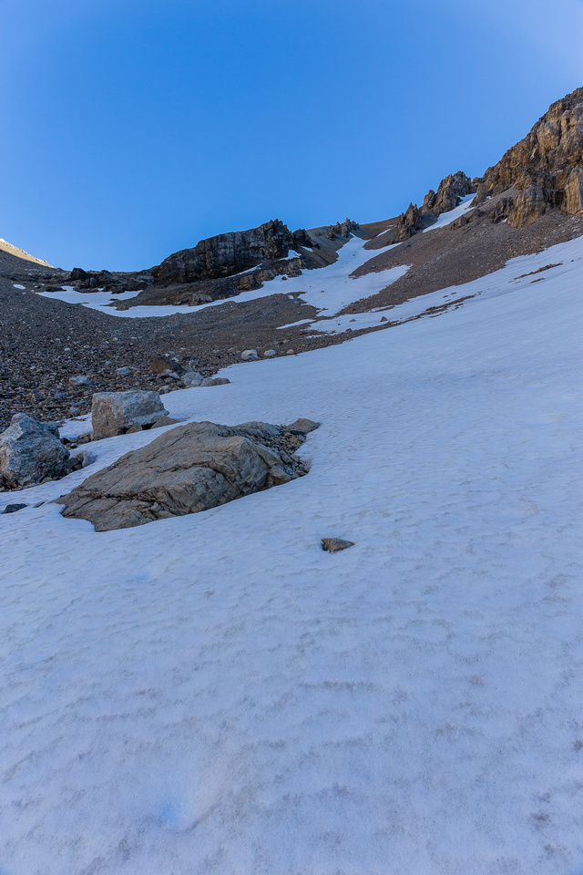 Snow is better than scree!