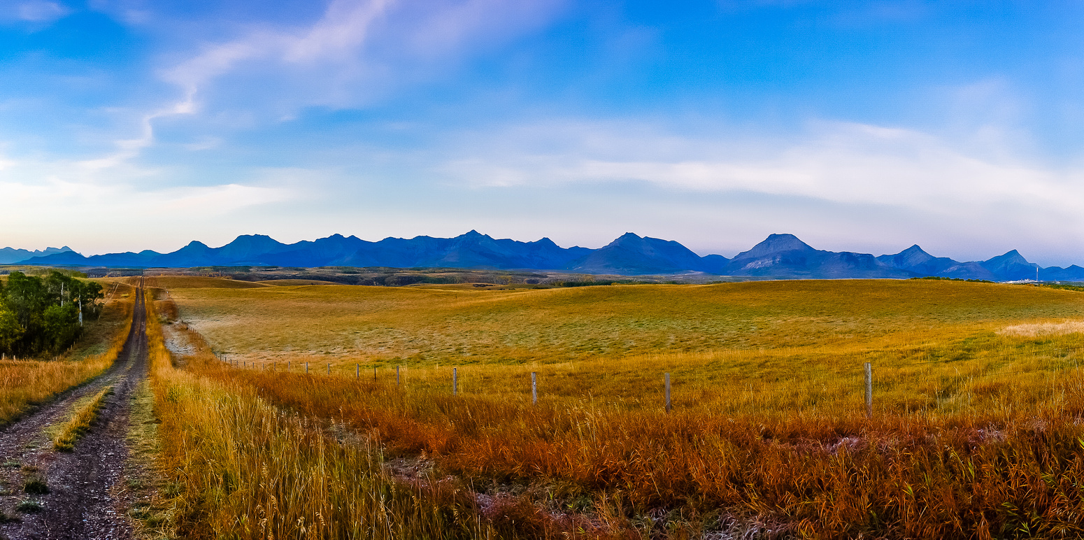 On my drive to Roche I took this shot of the southern Castle Peaks.