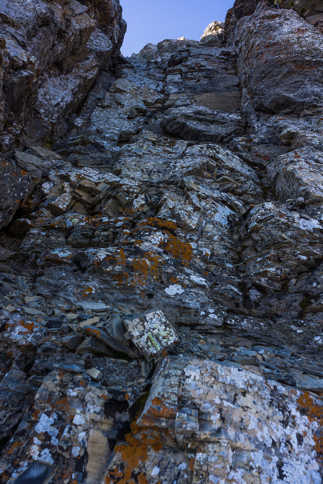 Typical terrain once the scrambling starts.
