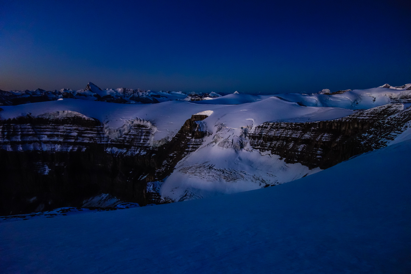 Pre-dawn on the Monchy Icefield.