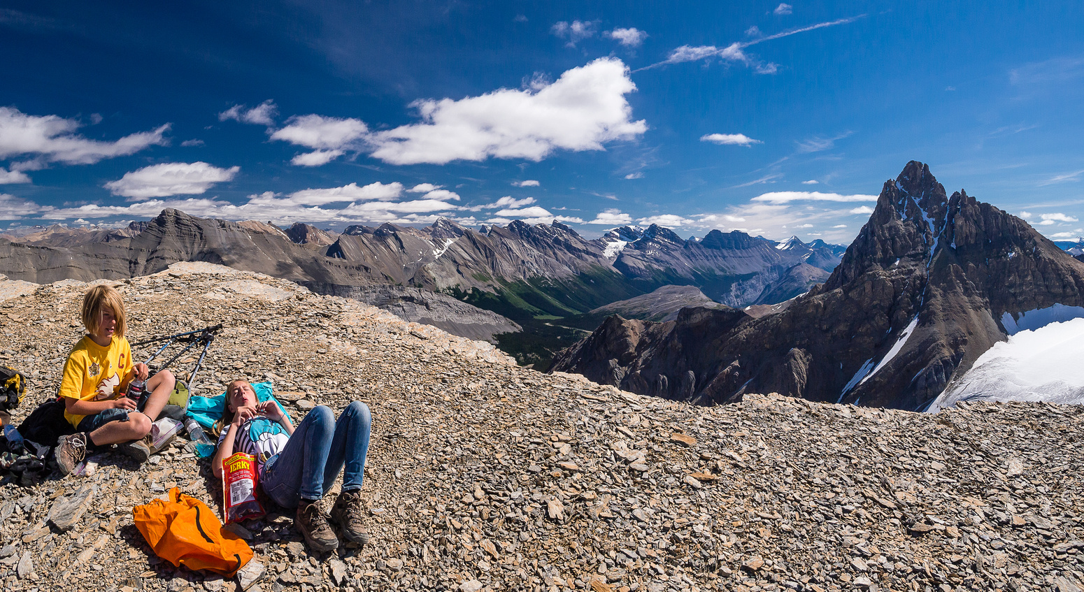 A lazy summer day on the summit of Boundary Peak.