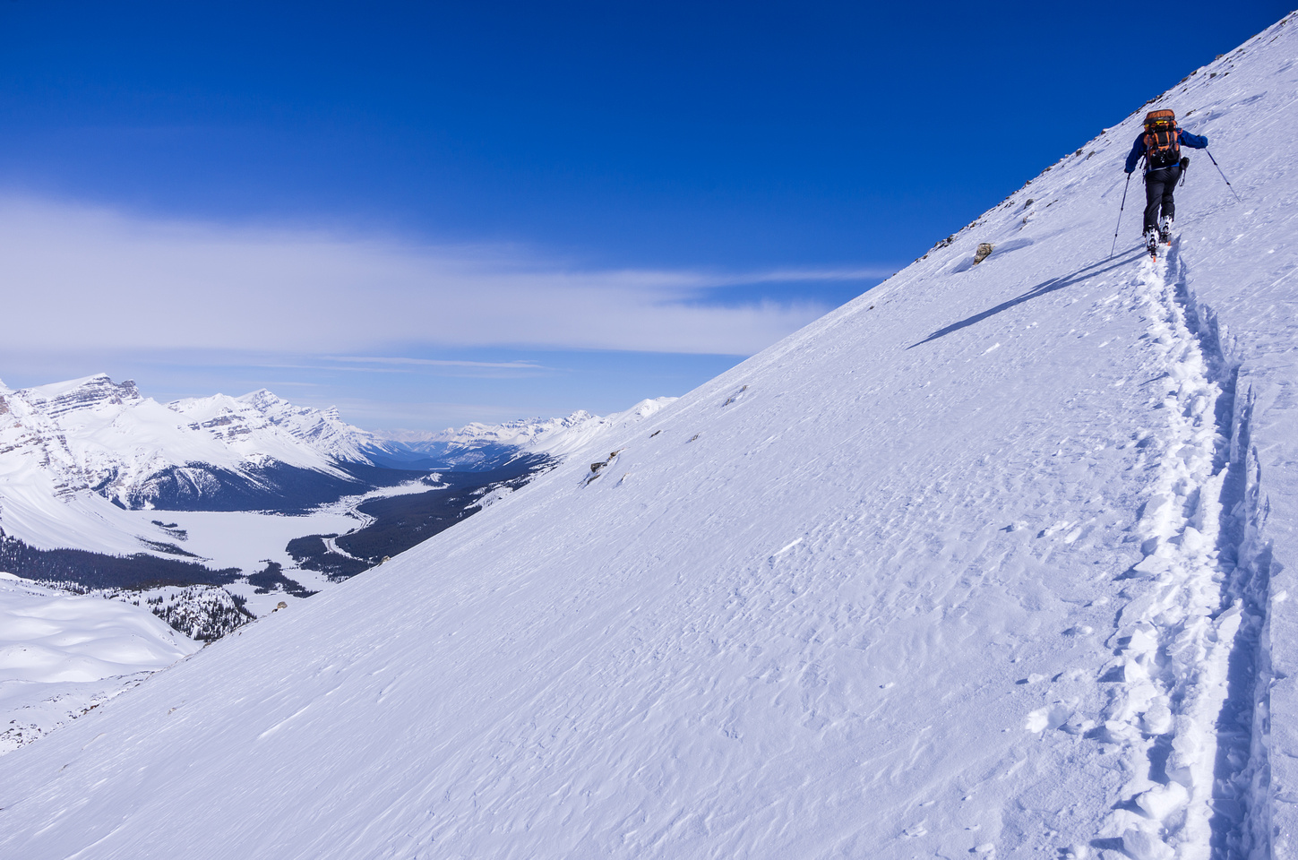 The going gets tougher as we get higher, thanks to a thin snow pack and crusty conditions.