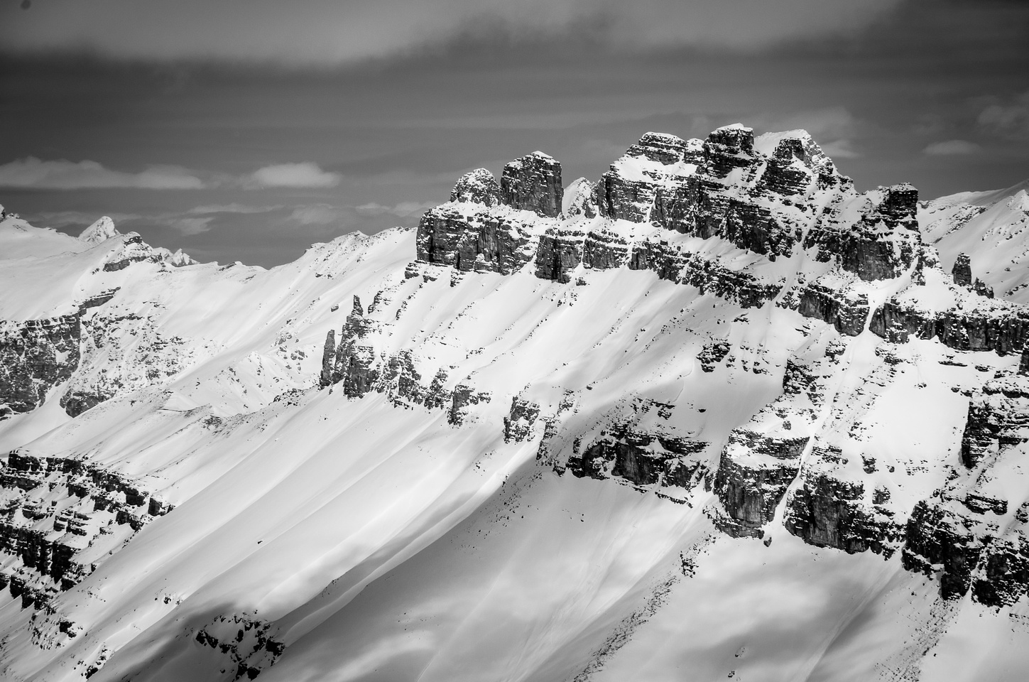 Dolomite Peak is an impressive looking mountain which I climbed after work with Sonny Bou in 2004.