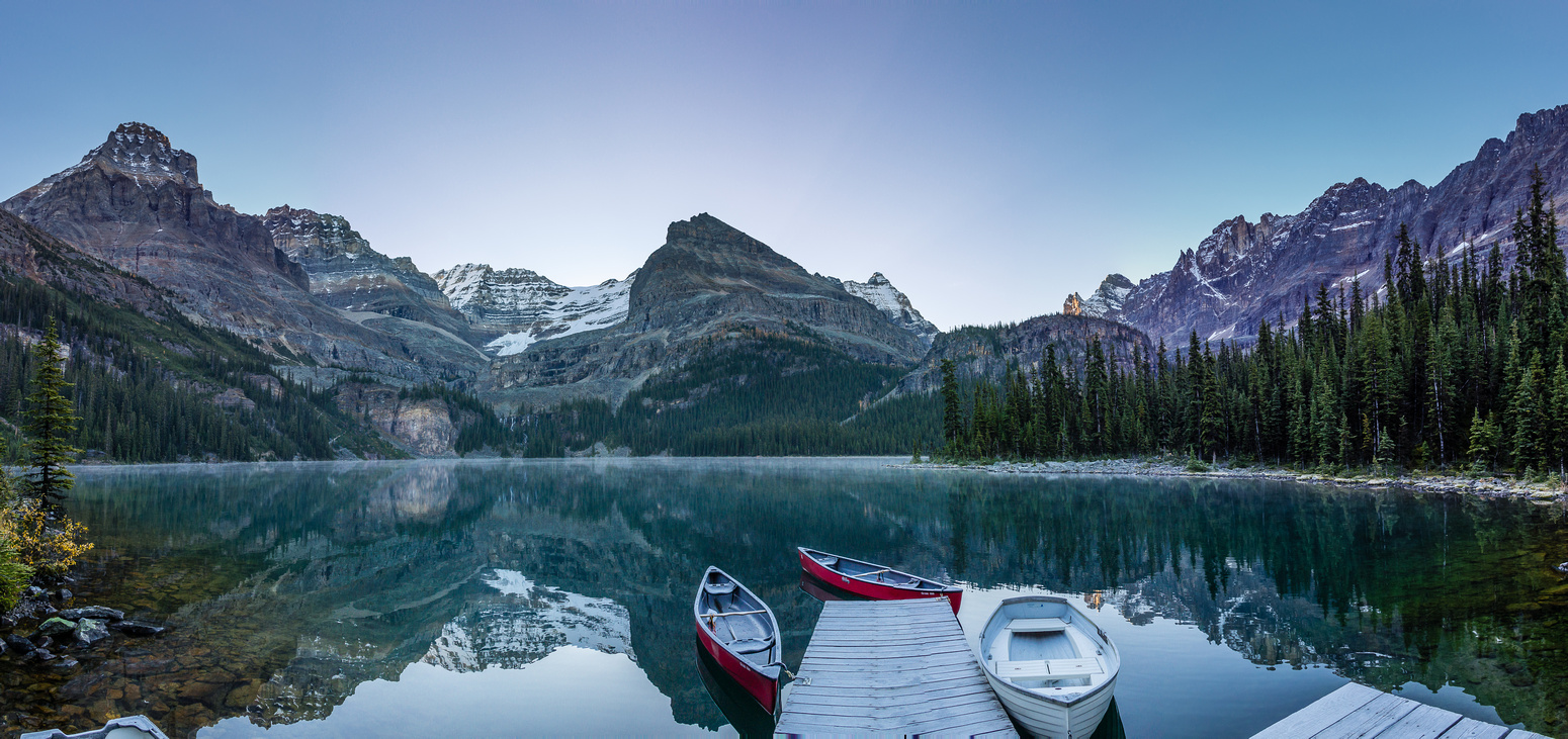 Lake O'Hara in early morning light.