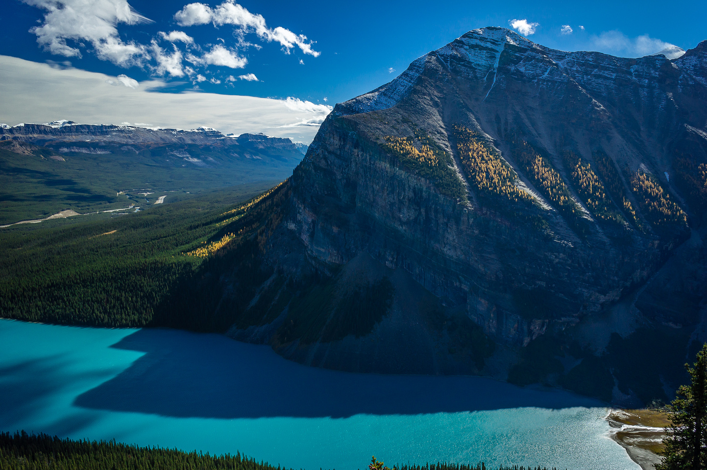 Mount Fairview over Lake Louise.