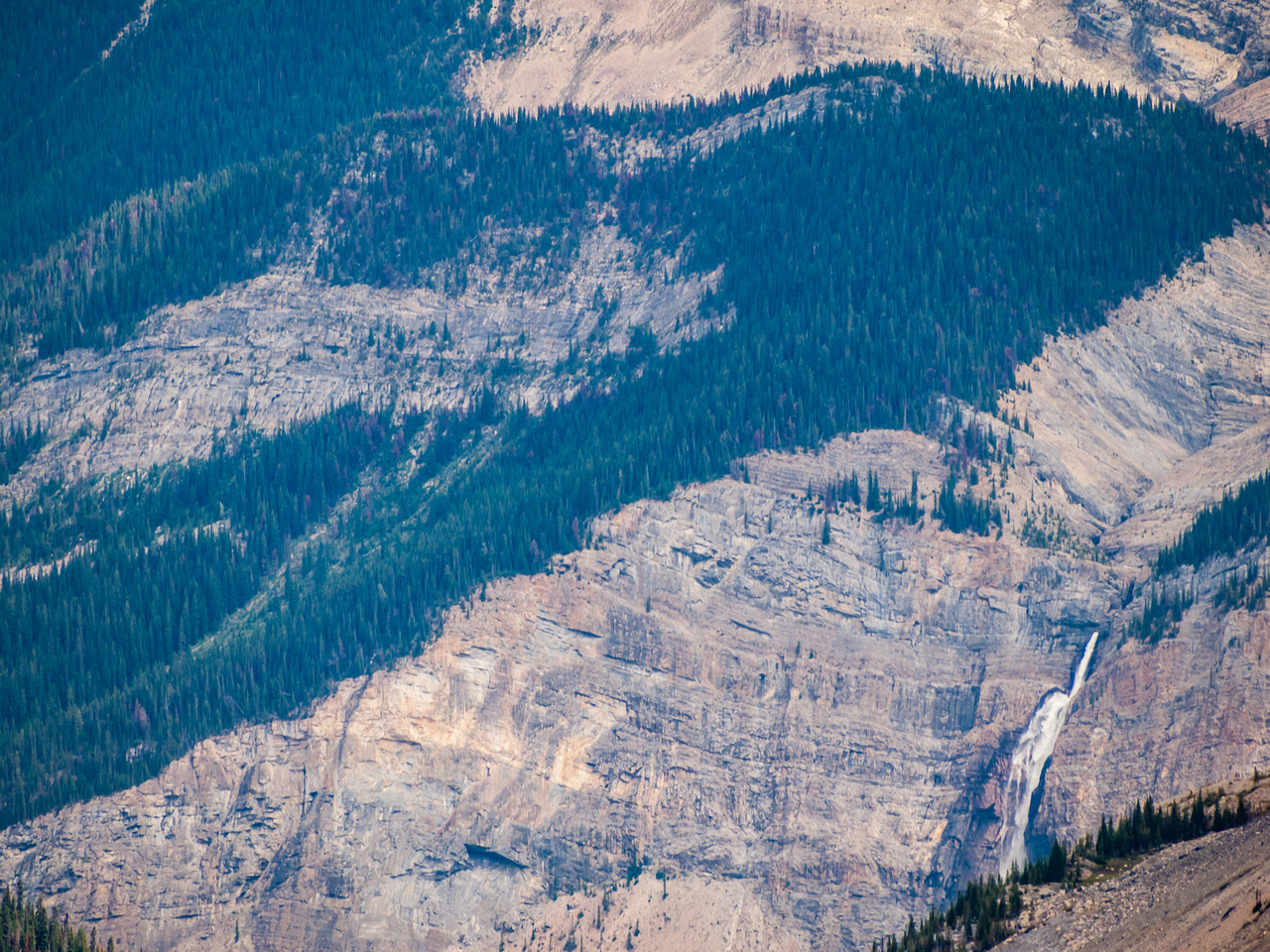 Hard to believe you can see Takkakkaw Falls from here!