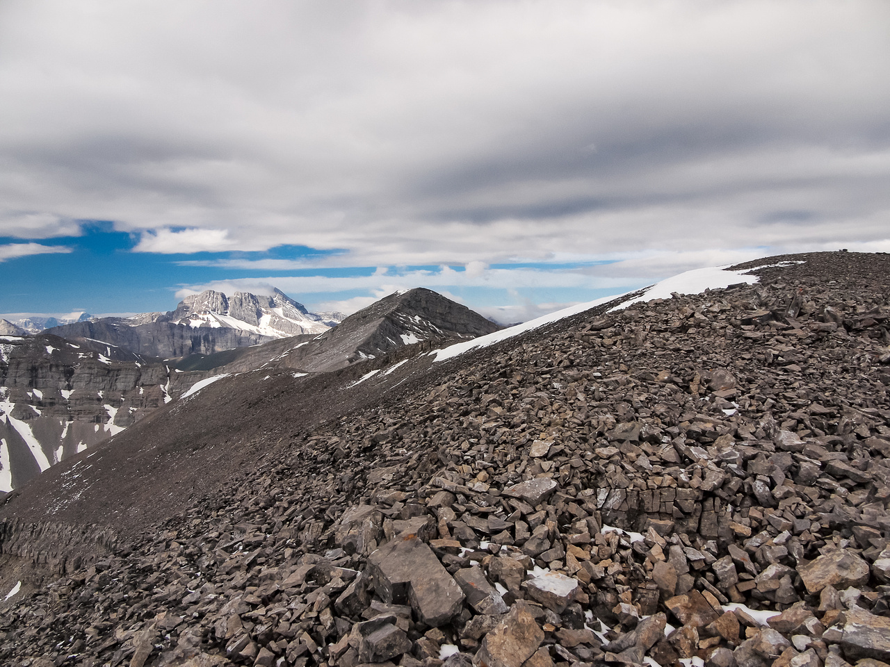 From the false summit, the true summit is a depressingly distant view!