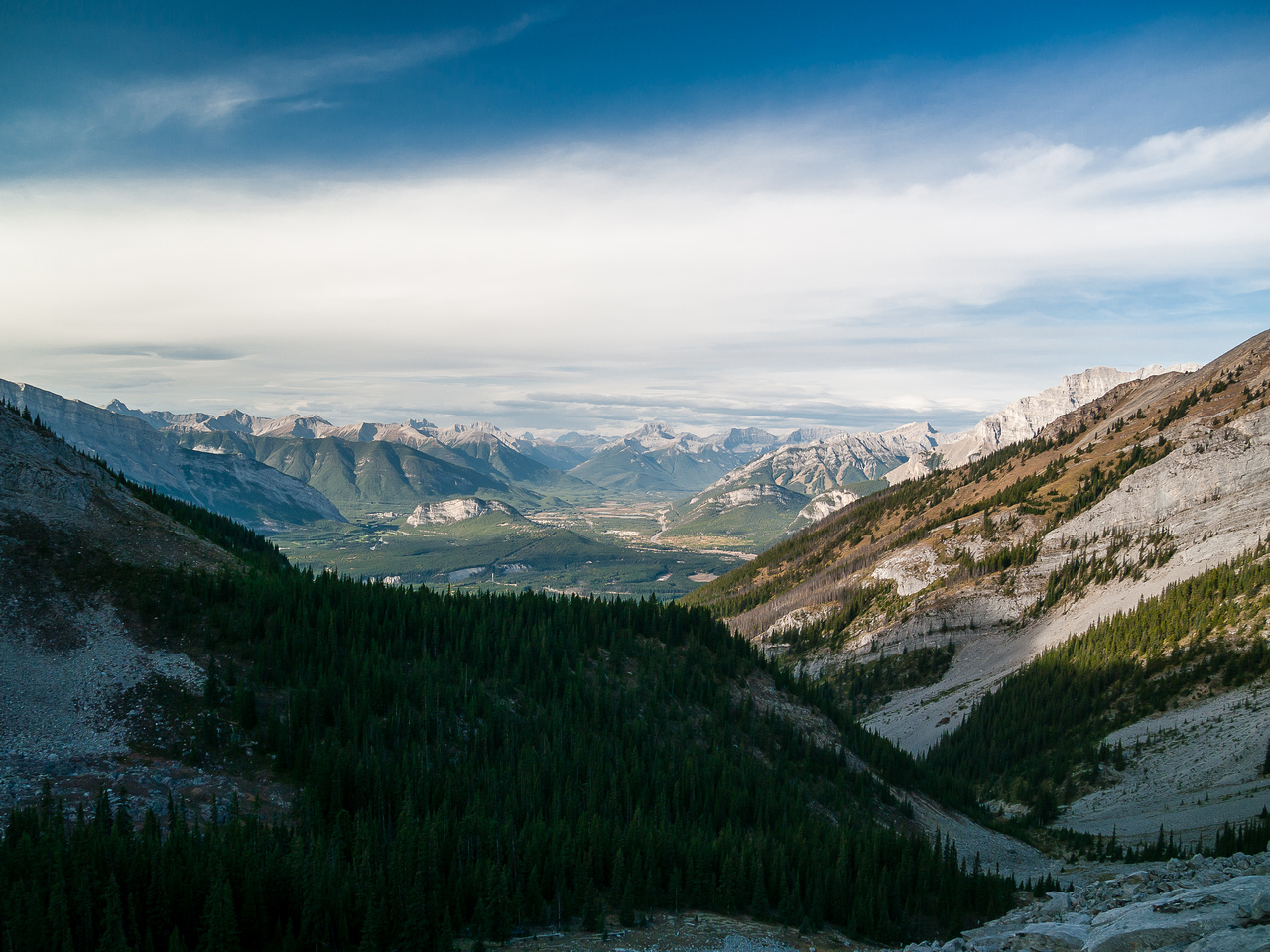 Another view back towards Banff.