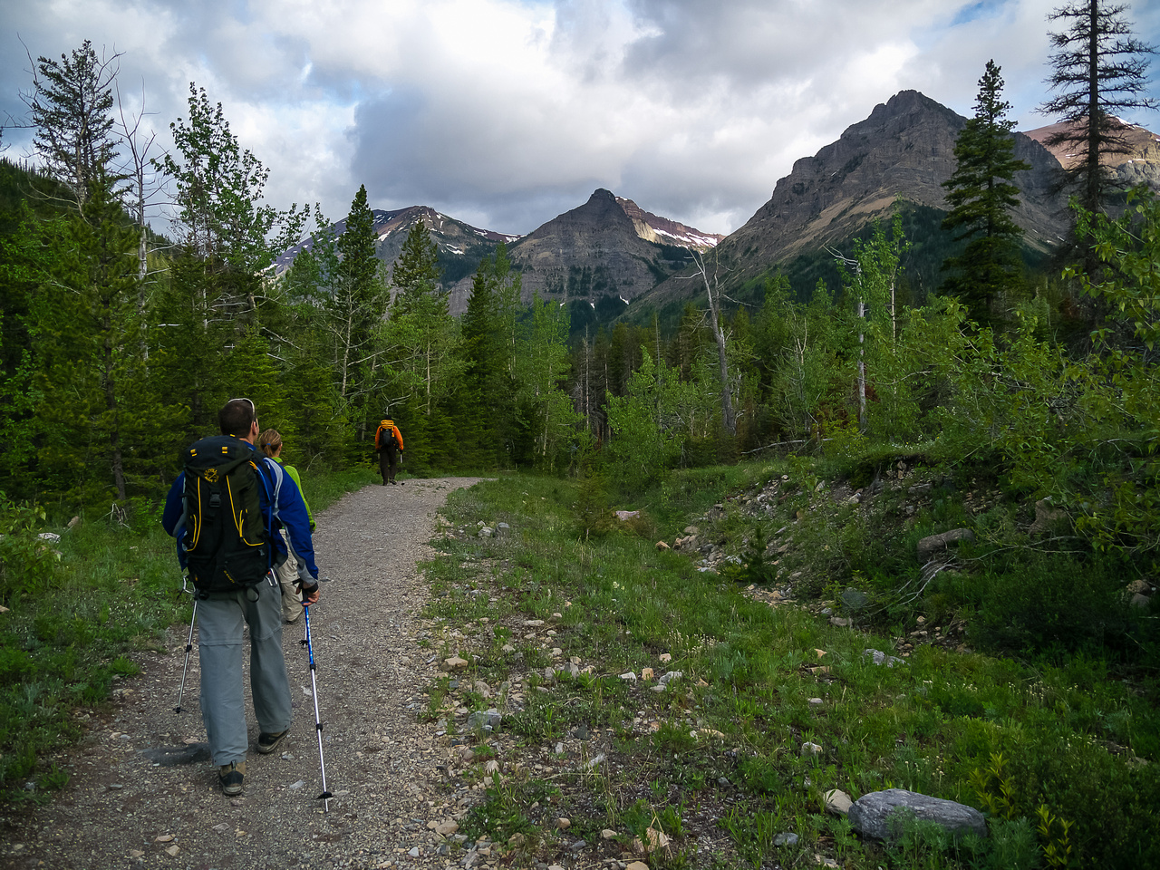 We should have biked the first 4.6km of the Snowshoe Trail.