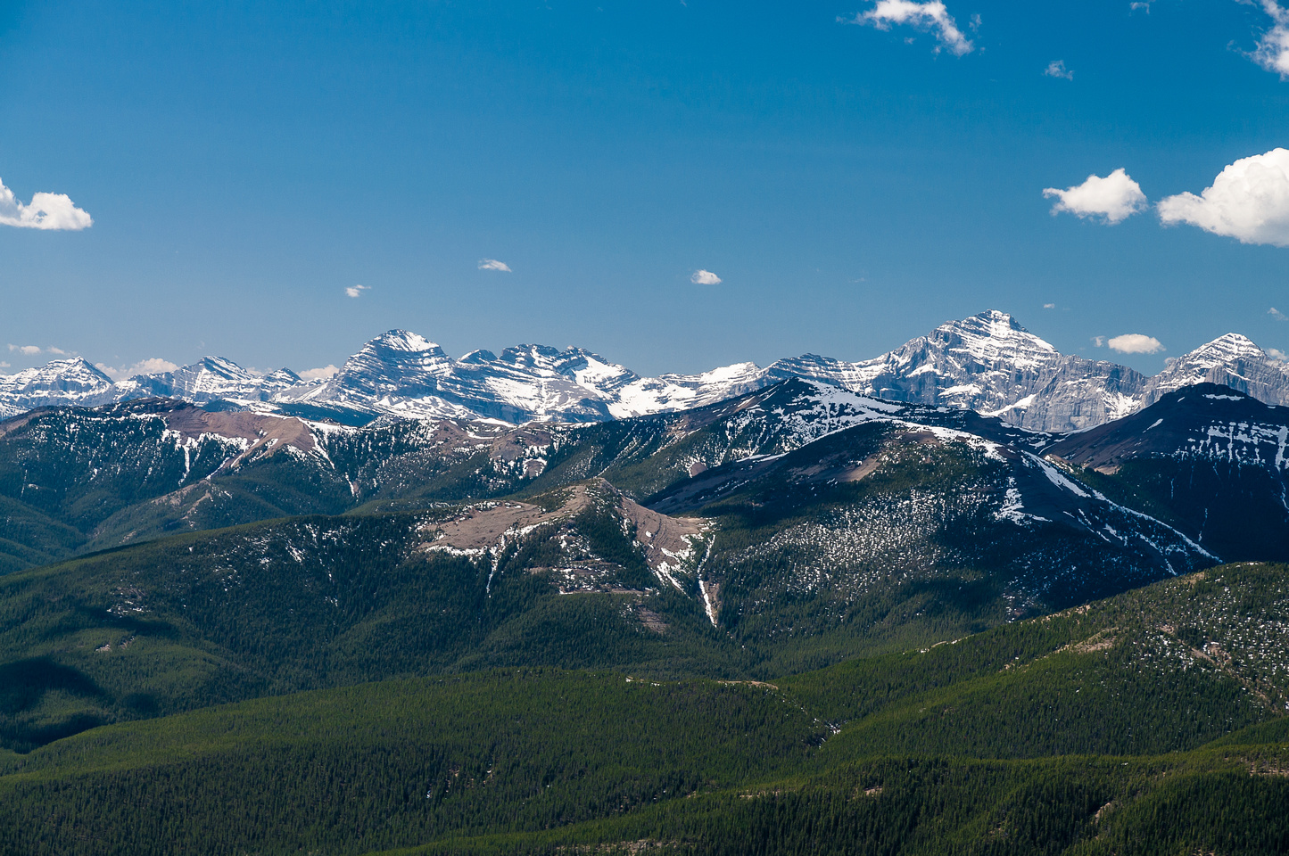 Gould Dome (L) and Tornado Mountain (R) are impressive peaks in the High Rock Range.