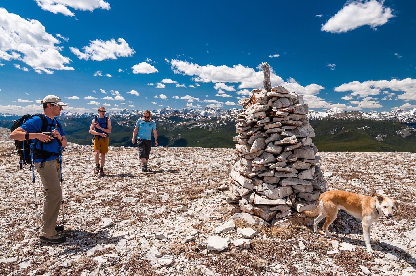 A huge cairn on the north summit.