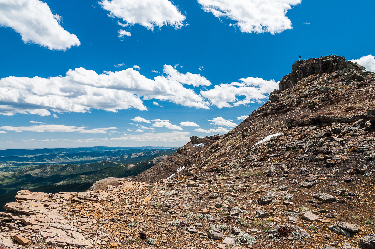 Looking back at the false summit of Saddle Mountain from the dip in the 'saddle'.